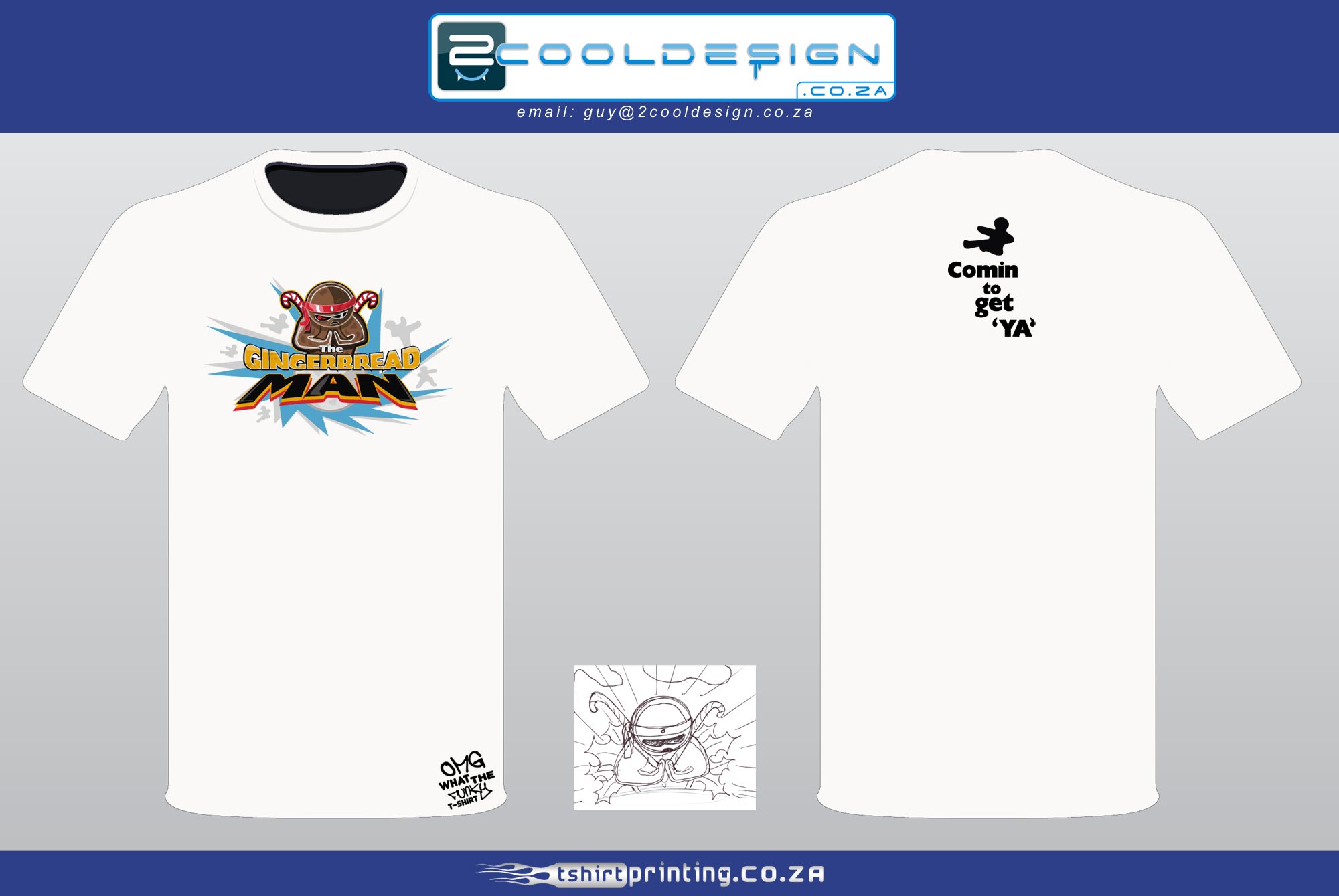 Cool t shirt design gingerbread man ninja t shirt by guy for T shirt printing design online