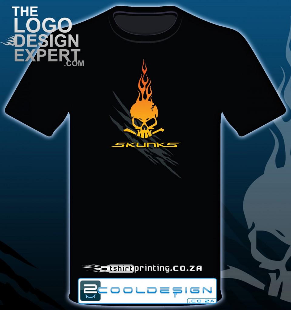 Cool biker skull t shirt design by guy tasker 2cooldesign for Online t shirt printers