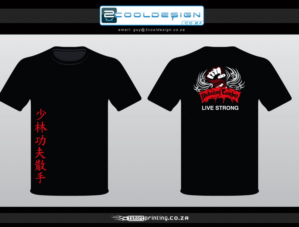Kung fu t shirt design tribal fist unbound combat tshirt for T shirt printers online