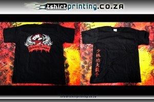 kung fu t-shirt printed vinyl transfer printing