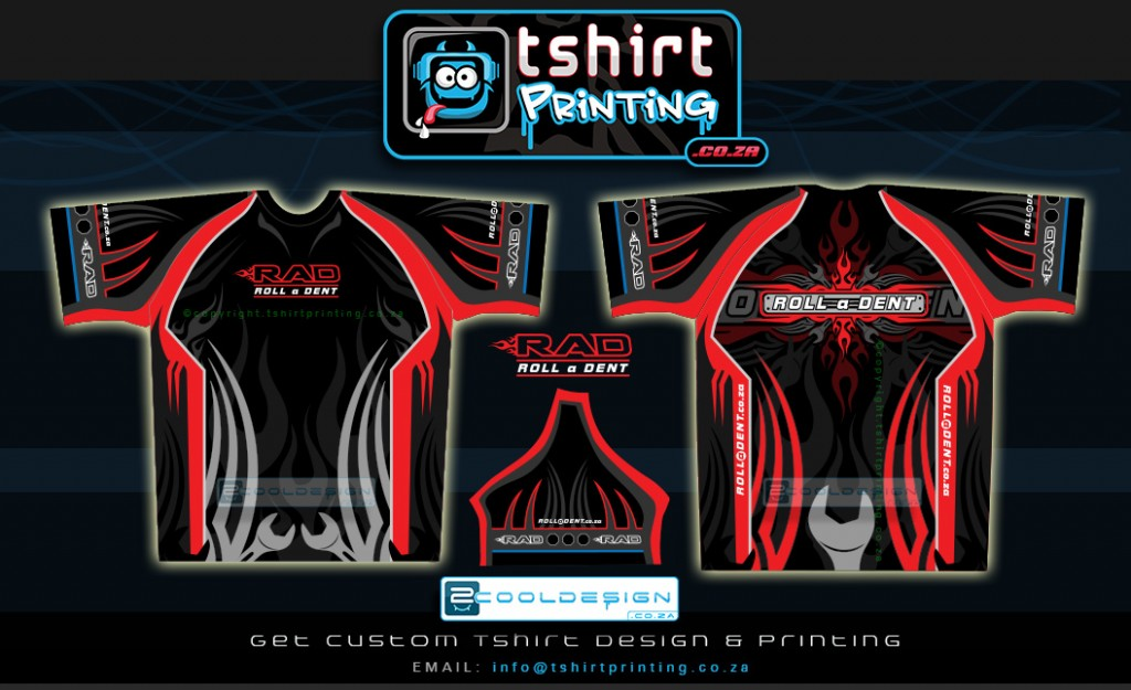 Sublimation shirt design and printing for Custom car club shirts