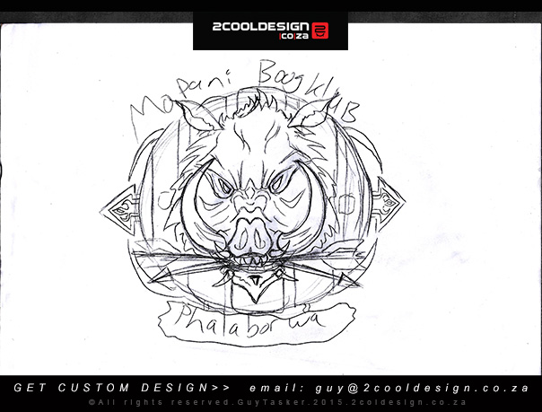 Conceptual logo design Sketch by Guy Tasker 2cooldesign