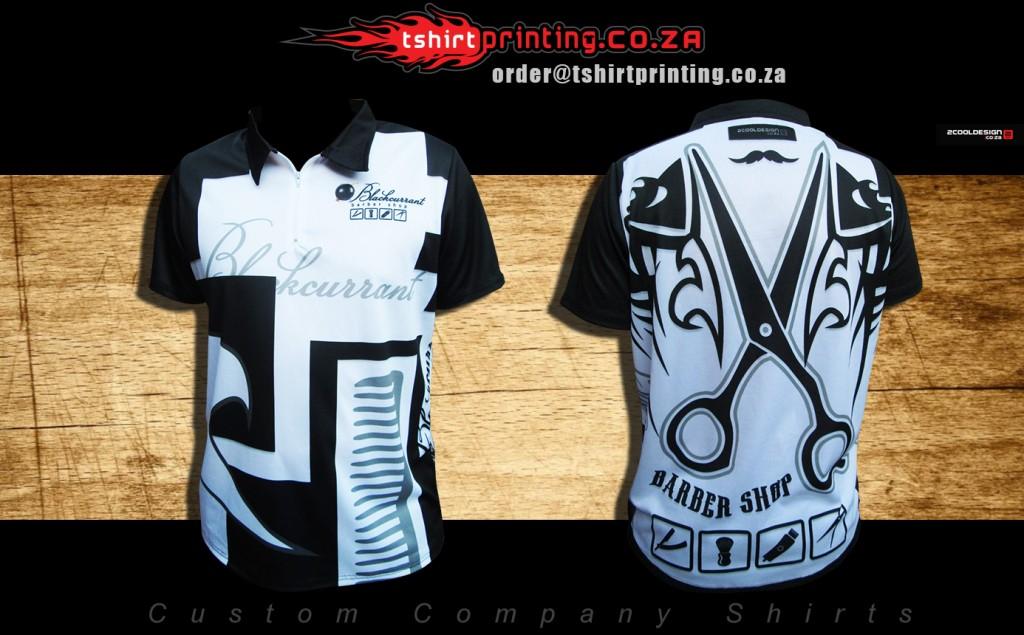 Barber shop shirt design for Company t shirt printing