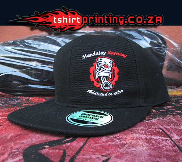 Snap back flat peak capprinting for Snap t shirt printing